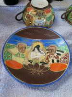 Pair of Oriental Porcelain Tea Cup & Saucer with Hand Painted Geisha Lady (2 of 9)