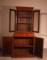English 19th Century Glassed Bookcase In Light Mahogany (5 of 9)