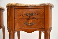 Pair of Antique French Marble Top Kidney Bedside Tables (5 of 12)