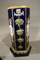 Very Rare Pair of Late 19th Century Majolica Stick Stands (5 of 5)