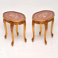 Pair of Antique French Style Giltwood Side Tables (4 of 10)