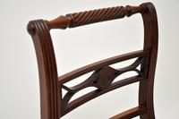 Pair of Antique Regency Mahogany Rope Back Side Chairs (3 of 8)