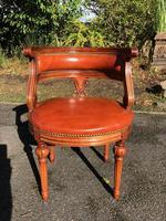 Quality Walnut & Leather Desk Chair