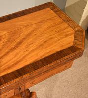 George III Satinwood, Rosewood & Ebony Inlaid Card Table (8 of 10)