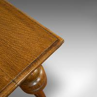 Antique Occasional Table, English, Oak, Side, Wine, Arts & Crafts, Edwardian (3 of 10)
