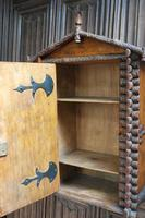 Antique Rustic Swiss Log Cabin Hanging Cupboard (5 of 7)