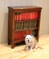 Edwardian Inlaid Mahogany Open Bookcase (5 of 8)