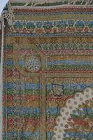 Large Vintage Middle Eastern Embroidered Silk Wall Hanging (6 of 10)