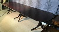 Mahogany Triple Pedestal Dining Table (5 of 10)