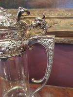 Antique Solid Silver Mounted Claret Jug (4 of 8)