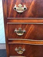 Serpentine Mahogany Slim Chest Drawers (6 of 8)