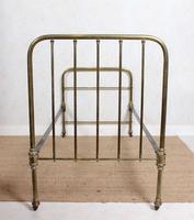 Brass Bed Frame Victorian 19th Century Single Bedframe Cast Iron (10 of 12)