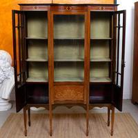Edwardian Glazed Bookcase Inlaid Mahogany (5 of 9)