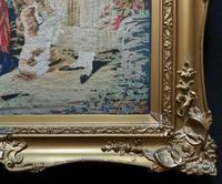 Large Beautiful Framed Original 19thc German Berlin Needlework Tapestry Picture (4 of 15)