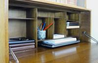 1930s Golden Oak Minty of Oxford Bureau Bookcase (7 of 11)