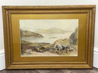19th Century Scottish Highlands Watercolour Loch Kishorn By William Leighton Leitch (34 of 36)