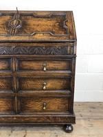 Early 20th Century Antique Oak Geometric Bureau (M-1657) (8 of 17)