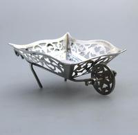 Rare Solid Silver Novelty Wheelbarrow Dish c.1908 (2 of 8)