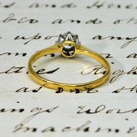 The Vintage Illusion Set Brilliant Cut Diamond Solitaire Ring (3 of 3)