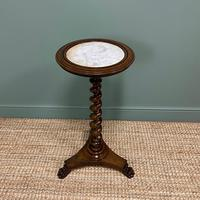 High Quality Barley Twist Victorian Mahogany Antique Occasional Table