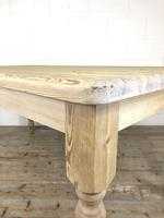 Rustic Stripped Pine Farmhouse Kitchen Table (2 of 11)