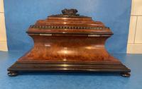 Victorian Burr Cedar & Ebony Shaped Tea Caddy (6 of 20)