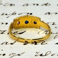 The Antique Victorian 1896 Sapphire & Diamond Ring (4 of 4)