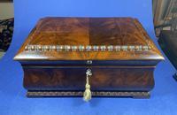 William IV Flame Mahogany Jewellery Box (12 of 20)