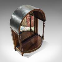 Antique Butler's Mirror, English, Rosewood, Dome Top, Wall, Victorian c.1880 (4 of 11)
