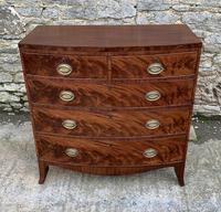 Regency Flame Mahogany Bow Front Chest of Drawers (2 of 17)