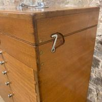 Mahogany Dentist Cabinet with Chrome Handle (2 of 9)