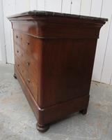 Antique Walnut Marble Top Chest of Drawers (4 of 9)