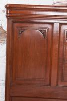 Lovely French Cherry King Size Bed with Simple Carvings (7 of 9)
