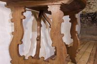 Charming 18th Century Italian Demi-Lune Lyre-Leg Fruitwood Table (2 of 13)