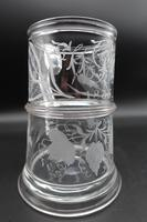 Splendidly Shaped & Complex Early 19th Century Glass Tankard (4 of 4)