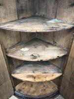 Georgian Oak Bow Front Corner Cupboard (3 of 10)