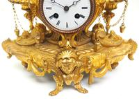 Wow! Incredible French Gilt Metal Mantel Clock Striking 8-Day Mantle Clock (2 of 10)