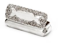 Small Victorian Silver Jewellery Box with Repousse Scroll and Flower Decoration (4 of 4)