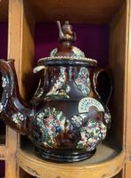 Collection of 24 Measham Bargeware Teapots & Jugs on 19th Century Dresser (4 of 4)