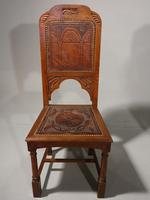 Tightly Designed Set of 10 Early 20th Century Oak Framed Chairs (5 of 5)