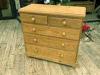 Superb & Large Old Pine Chest of Drawer / Sideboard (3 of 8)
