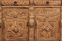 Carved Raw Oak Glazed Bookcase (21 of 21)