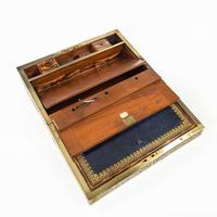 Superb William IV Brass Inlaid Kingwood Writing Box by Edwards (3 of 17)