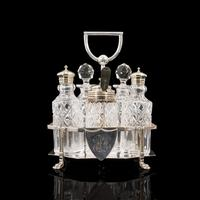 Antique Condiment Serving Set, English, Silver Plate, Table, Ashbury, Edwardian (9 of 12)