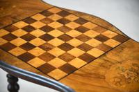 Antique Walnut Inlaid Victorian Games Table (8 of 10)