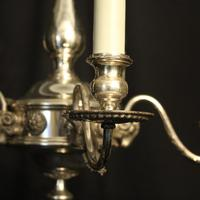 English Silver Plated 5 Light Antique Chandelier (5 of 10)