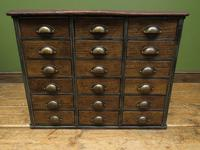Reclaimed Scratch Built Bank of Drawers, Industrial Crafting or Tool Drawers (4 of 16)