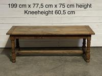 Rustic French Oak 19th Century Farmhouse Kitchen Table (2 of 31)