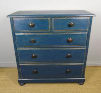 Charming Victorian Painted Chest of Drawers 19th Century (5 of 6)