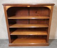 Edwardian Inlaid Mahogany Open Bookcase (8 of 10)